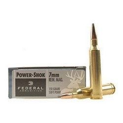 Federal 7mm Remington Magnum 150gr Power-Shok Ammunition /20
