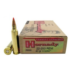 Hornady 22-250 Remington 40gr V-MAX Ammunition /20